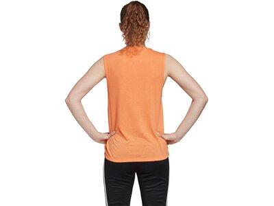 adidas Damen Tank Top Sportmode ärmelloses T-Shirt Braun