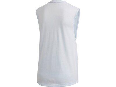 adidas Damen Tank Top Sportmode ärmelloses T-Shirt Silber
