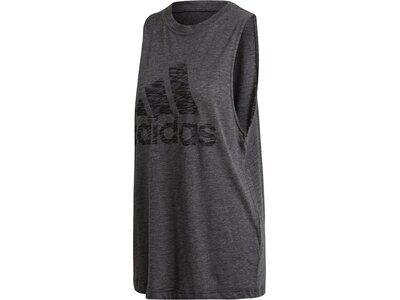 adidas Damen Winners Tank Top Sportmode ärmelloses T-Shirt Grau