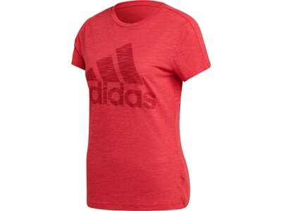 adidas Damen Winners Sportmode weit geschnittene T-Shirt Rot