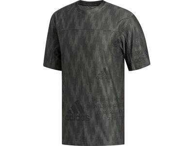 adidas Herren City Knit T-Shirt Grau