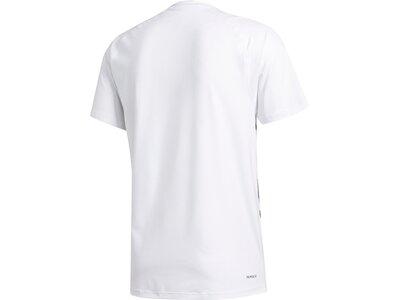 adidas Herren FreeLift Primeblue T-Shirt Weiß