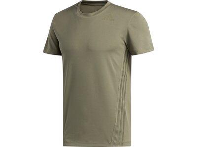 adidas Herren 3-Streifen Aeroready Sport T-Shirt Grau