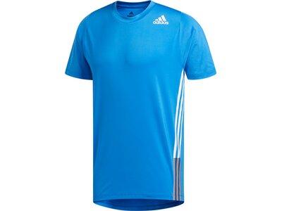 adidas Herren 3-Streifen Tee Aeroready Sport T-Shirt Blau