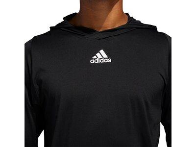 ADIDAS Herren Shirt FL 3S+ LS HDT Schwarz