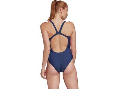 adidas Damen Tapered Schwimmen Sport Badeanzug Blau