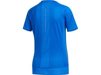 adidas Damen Parley 25/7 Rise Up N Run T-Shirt Blau