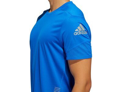 adidas Herren Parley 25/7 Rise Up N Run T-Shirt Blau