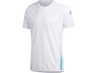 adidas Herren Parley 25/7 Rise Up N Run T-Shirt Weiß