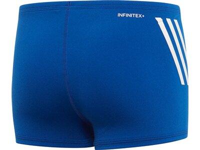 adidas Jungen Pro 3-Streifen Boxer-Badehose Blau