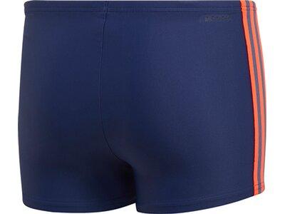 adidas Jungen 3-Streifen Boxer-Badehose Blau