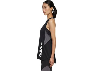 adidas Damen Designed 2 Move Colorblock Tanktop Schwarz