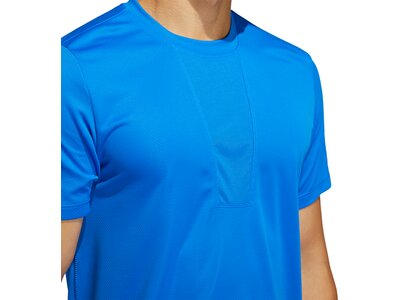 adidas Herren HEAT.RDY 3-Streifen T-Shirt Blau