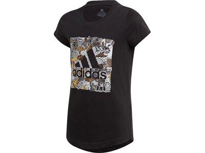 adidas Mädchen Must Haves Doodle Badge of Sport T-Shirt Schwarz
