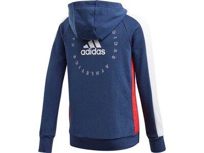 adidas Mädchen adidas Athletics Club Kapuzenjacke Blau