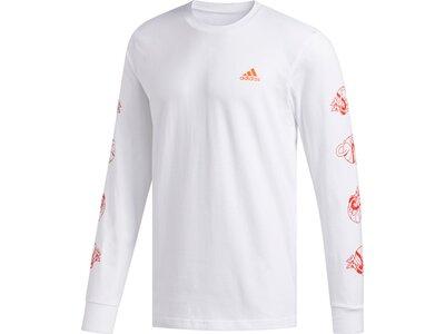 ADIDAS Herren Shirt LIL STRIPE LS Pink