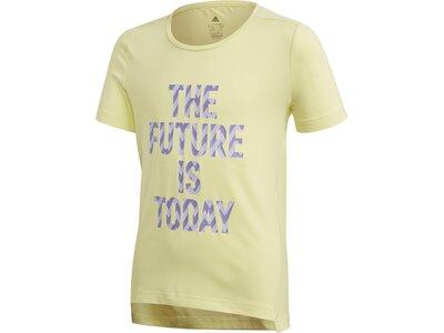 "ADIDAS Mädchen T-Shirt ""The Future Today"" Braun"