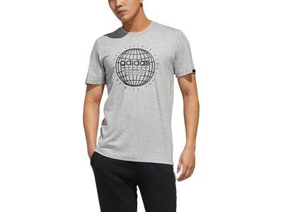 ADIDAS Herren Shirt GLB T Silber