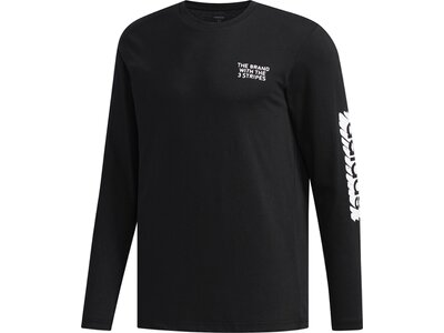 ADIDAS Herren Shirt SCRBL LS T Schwarz