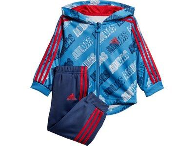 ADIDAS Kinder Sportanzug I SHINY FZ HD Blau