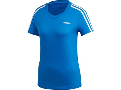 adidas Damen Essentials 3-Streifen T-Shirt Blau