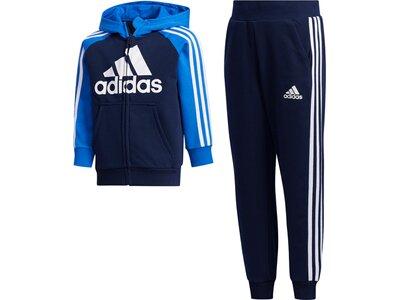 adidas Kinder French Terry Trainingsanzug Blau