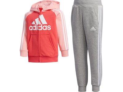 adidas Kinder French Terry Trainingsanzug Pink