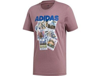 ADIDAS Herren Shirt Doodle Photos Braun
