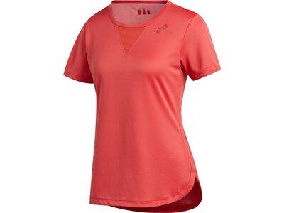 adidas Damen 3-Streifen Tee Heat.Rdy Sport T-Shirt Rot