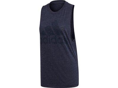 adidas Damen Winners Tank Top Sportmode ärmelloses T-Shirt Blau