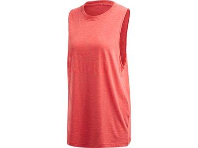 adidas Damen Winners Tank Top Sportmode ärmelloses T-Shirt Rot
