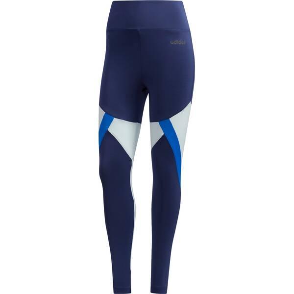 Hosen - adidas Damen Colorblock 7 8 Tight › Blau  - Onlineshop Intersport