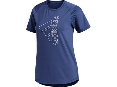 adidas Damen Logo Tee Aeroready Sport T-Shirt Blau