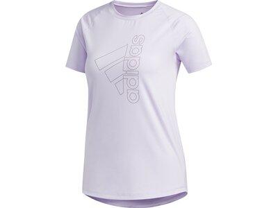 adidas Damen Logo Tee Aeroready Sport T-Shirt Grau