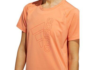 adidas Damen Logo Tee Aeroready Sport T-Shirt Braun