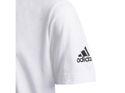 ADIDAS Kinder Shirt SS STRIPE BOL Grau