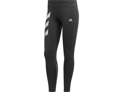 adidas Damen Own The Run 3-Streifen Fast Tight Grau