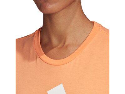 adidas Damen Logo Tee Essentials Sportmode T-Shirt Braun