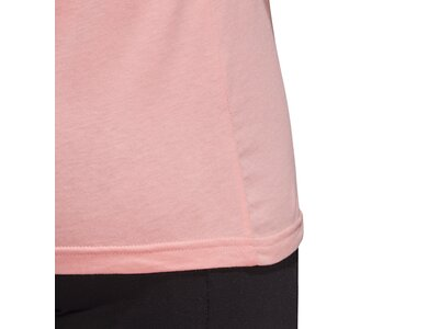 adidas Damen Logo Tee Essentials Sportmode T-Shirt Pink