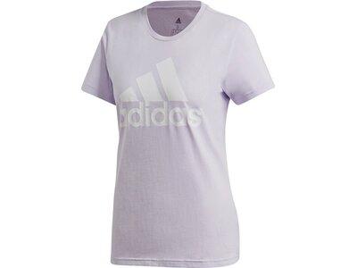 adidas Damen Logo Tee Essentials Sportmode T-Shirt Silber