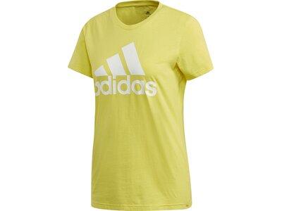adidas Damen Logo Tee Essentials Sportmode T-Shirt Grün