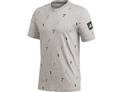adidas Herren Must Haves Graphic T-Shirt Silber