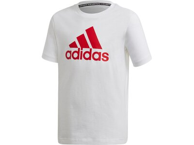 adidas Jungen Must Haves Badge of Sport T-Shirt Silber