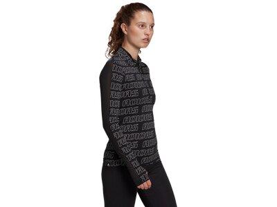 adidas Damen Stretchy Half-Zip Longsleeve Schwarz