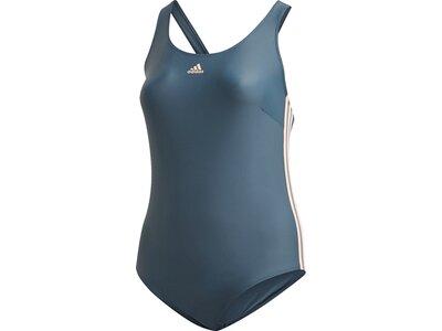 ADIDAS Damen Badeanzug FIT 3S Grau