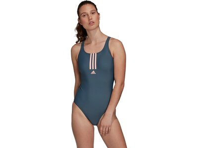 adidas SH3.RO Mid 3-Streifen Badeanzug Blau