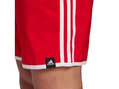 adidas Herren 3-Streifen CLX Badeshorts Rot
