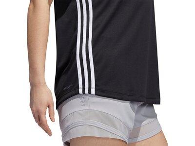 adidas Damen 3-Streifen T-Shirt Schwarz