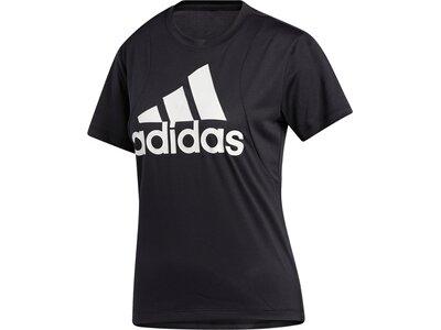 adidas Damen Badge of Sport Logo T-Shirt Schwarz