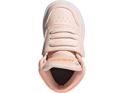 adidas Kinder Hoops 2.0 Mid Schuh pink